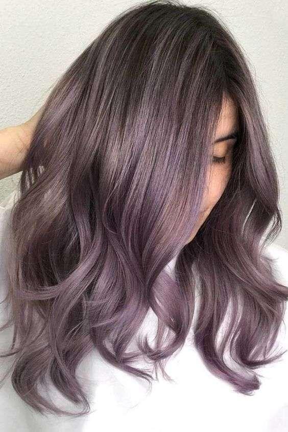 tóc tím oải hương