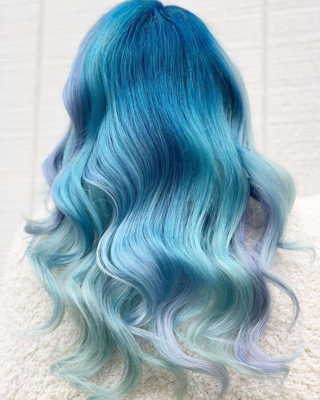 tóc pastel xanh