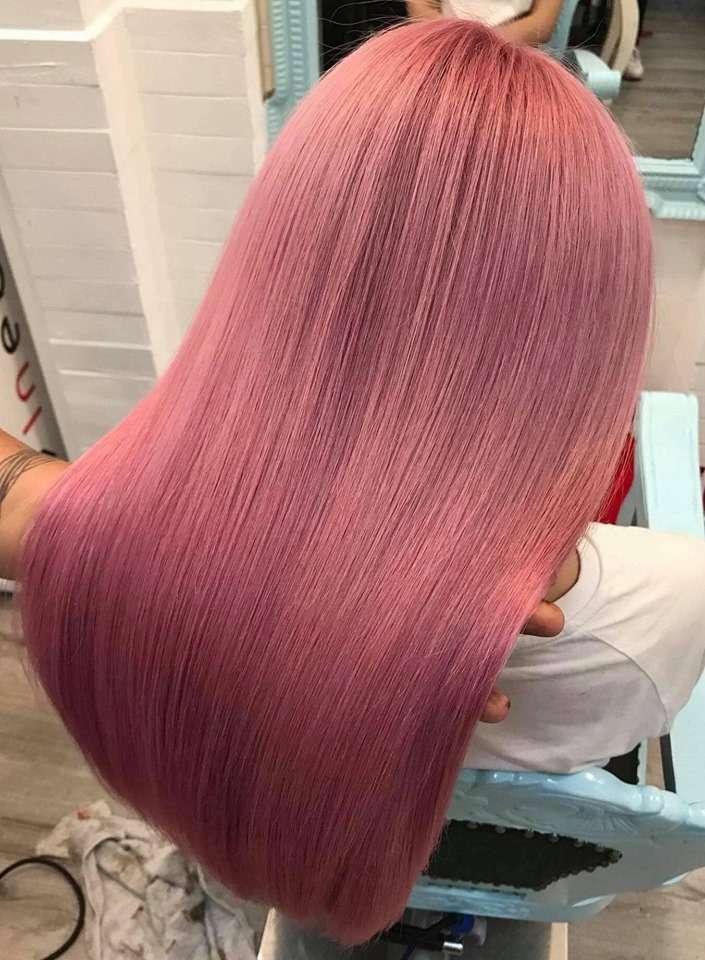 Kiểu tóc nhuộm màu hồng khói đẹp