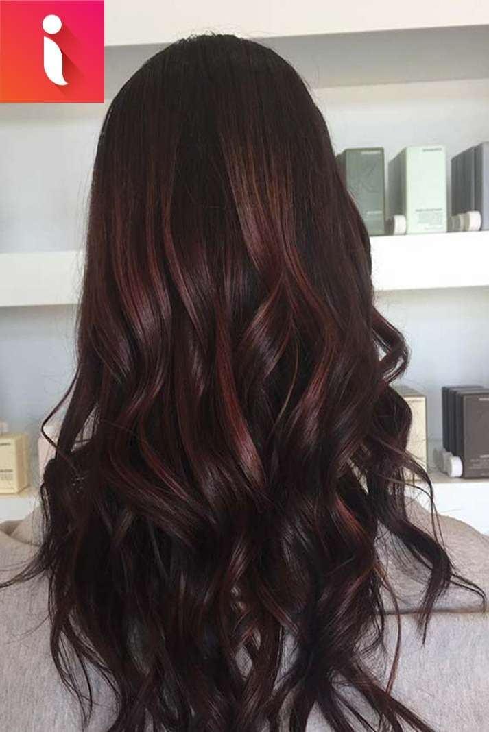 màu tóc nâu chocolate 2020