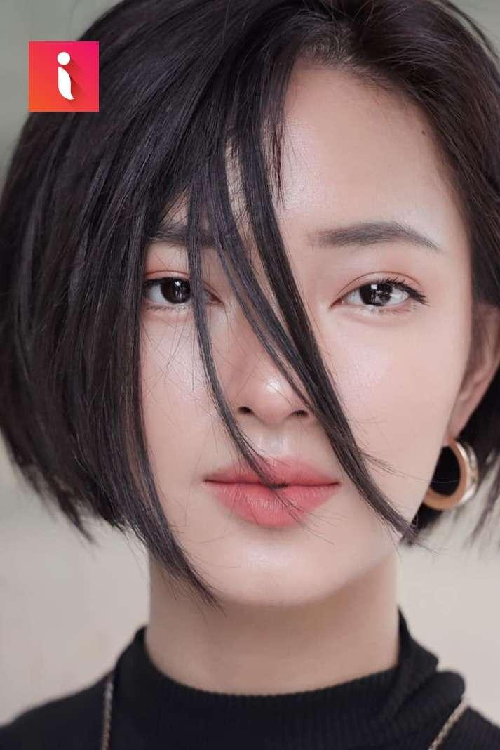 Sắc lạnh và quyến rũ là những từ để miêu tả về kiểu tóc ép đẹp này