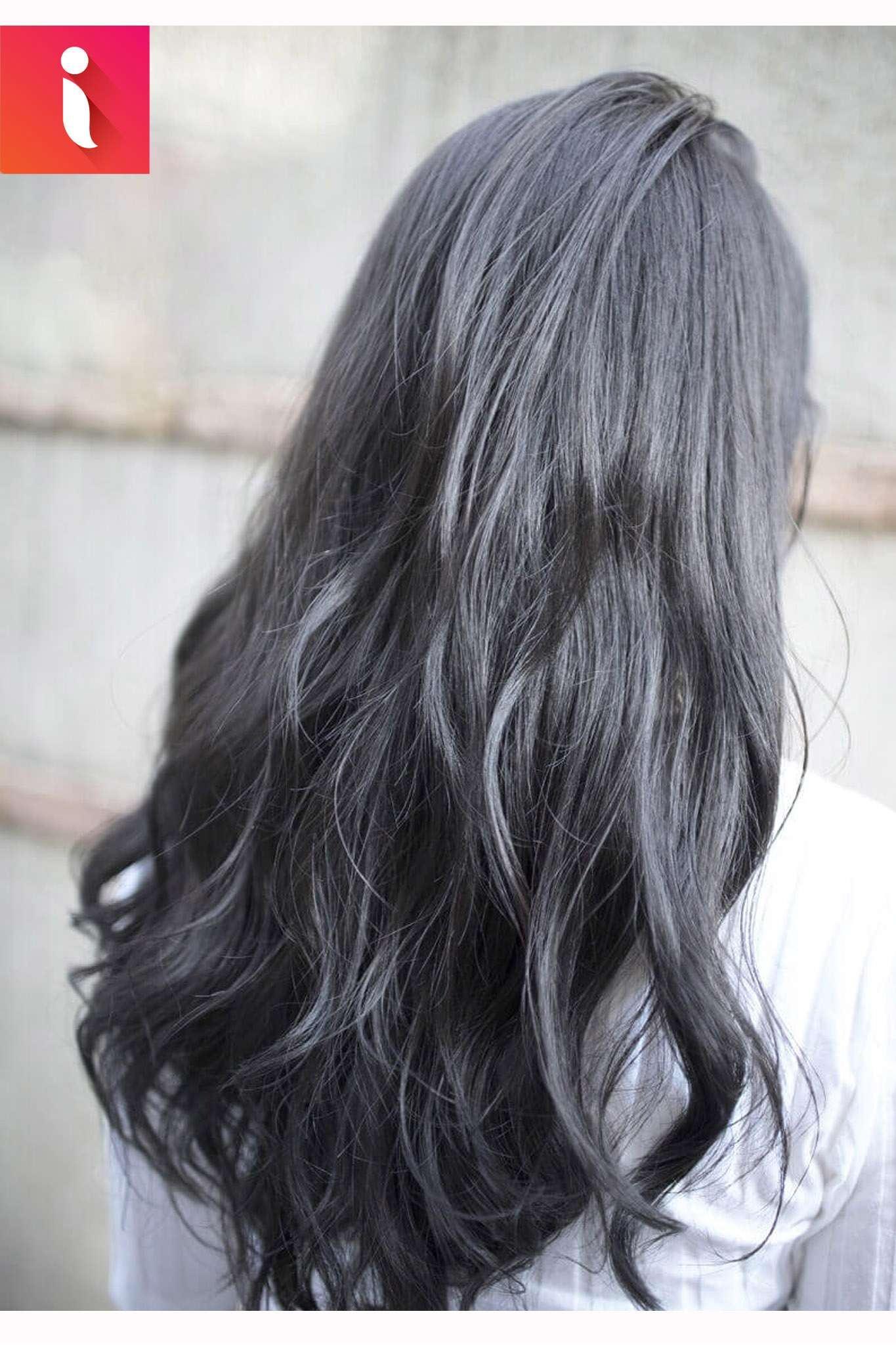 Vô cùng ảo diệu với màu tóc than chì